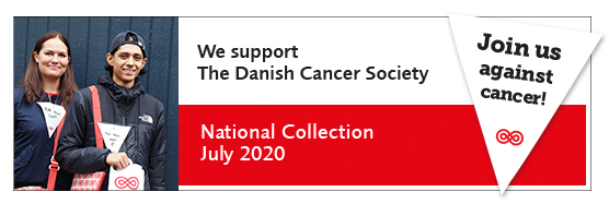 We support the Danish Cancer Society 2020 logo